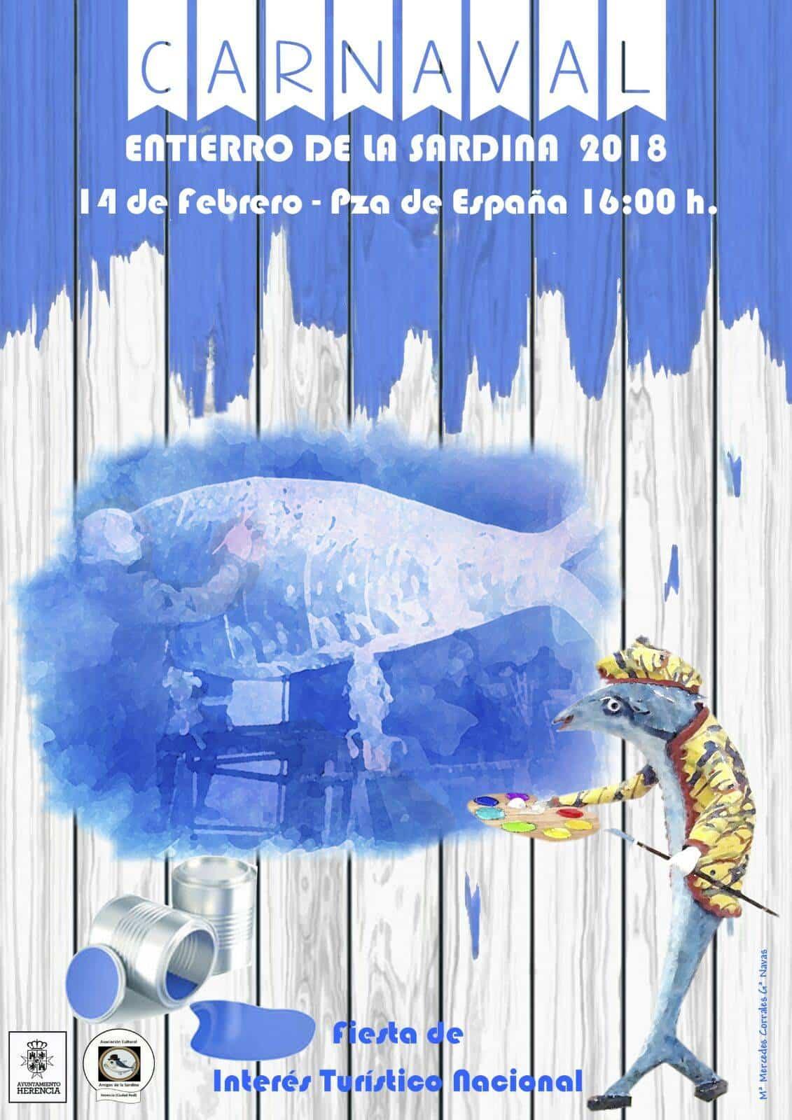 cartel entierro de la sardina 2018 herencia - Cartel del Entierro de la Sardina 2018 del Carnaval de Herencia