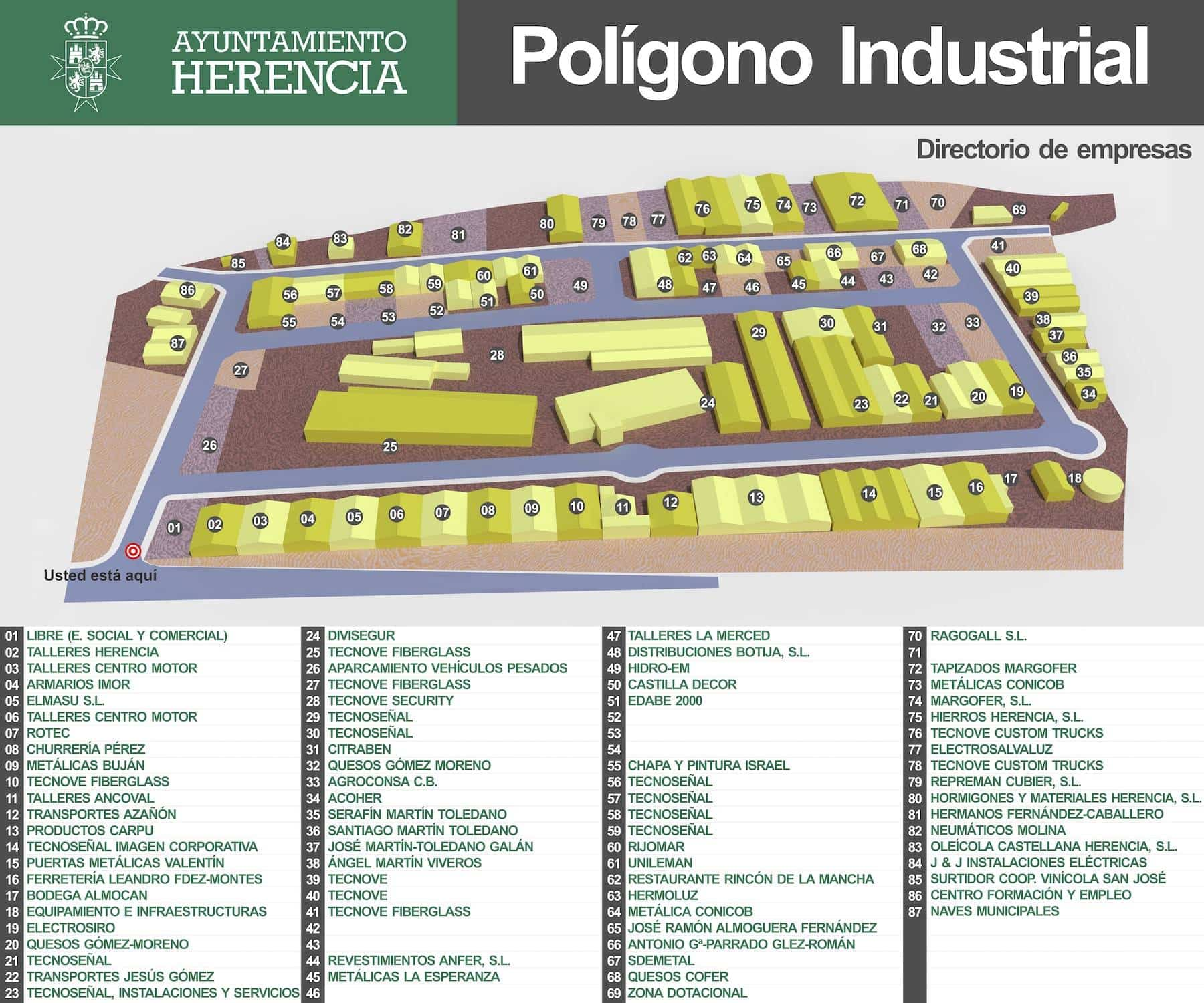 directorio empresas poligono herencia - Plan de dinamización empresarial en Herencia