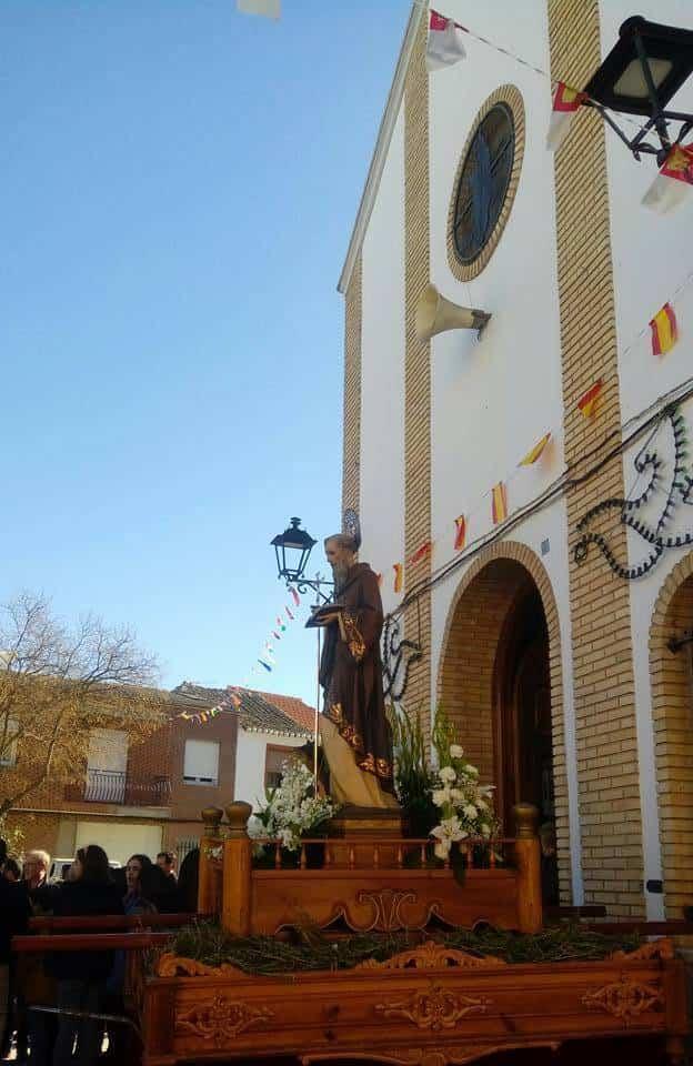 ermita san anton herencia - Herencia celebró la festividad de San Antón con su tradicional hoguera