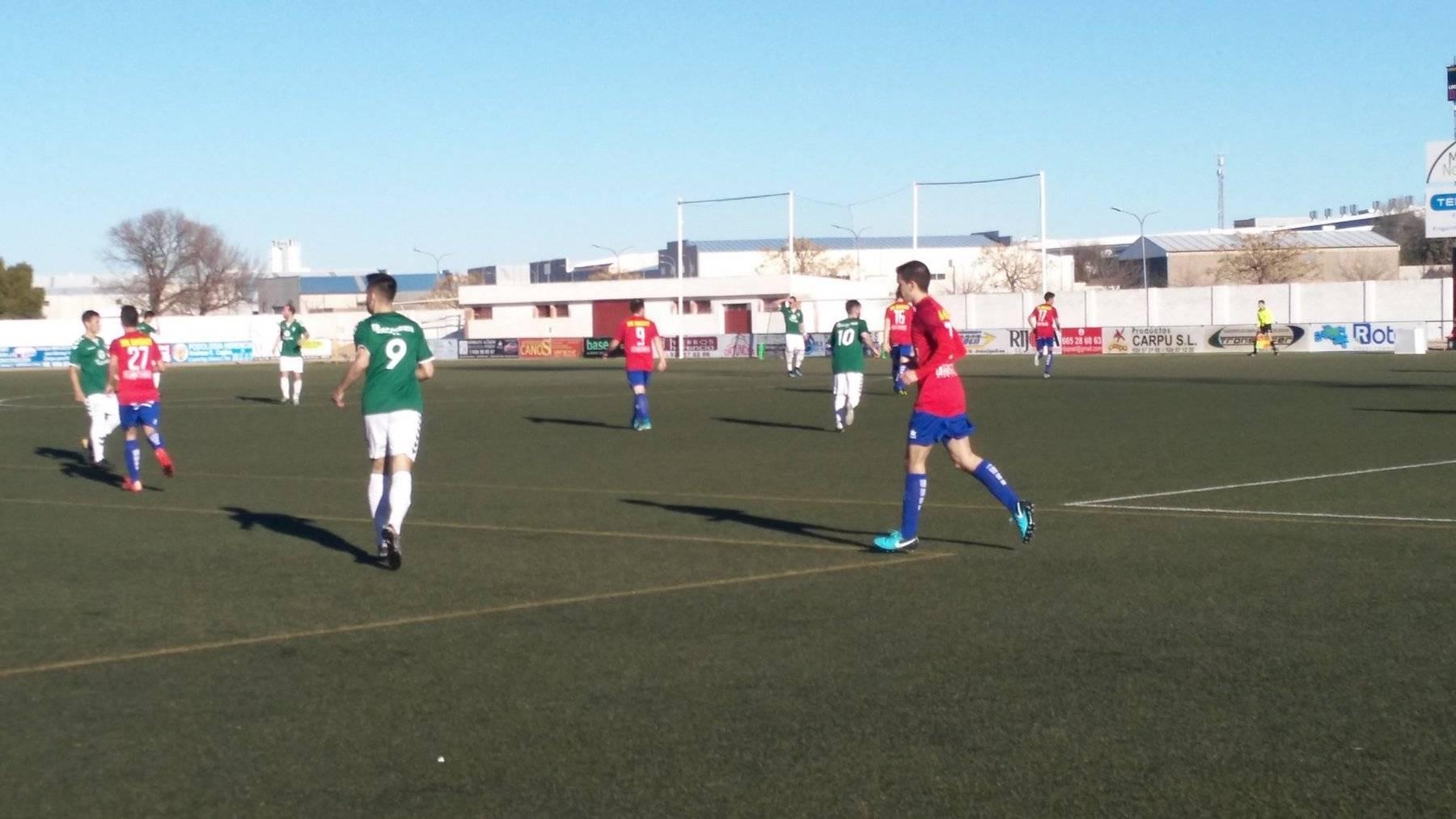 herencia aldea futbol - C.D.B Herencia venció 3-0 al Aldea en el Fernández de la Puebla