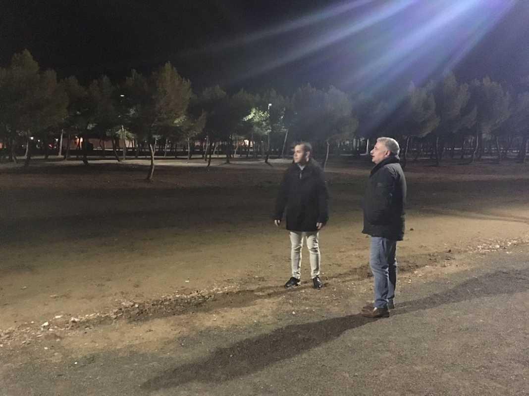 Nueva iluminación en el Parque de La Serna de Herencia 7