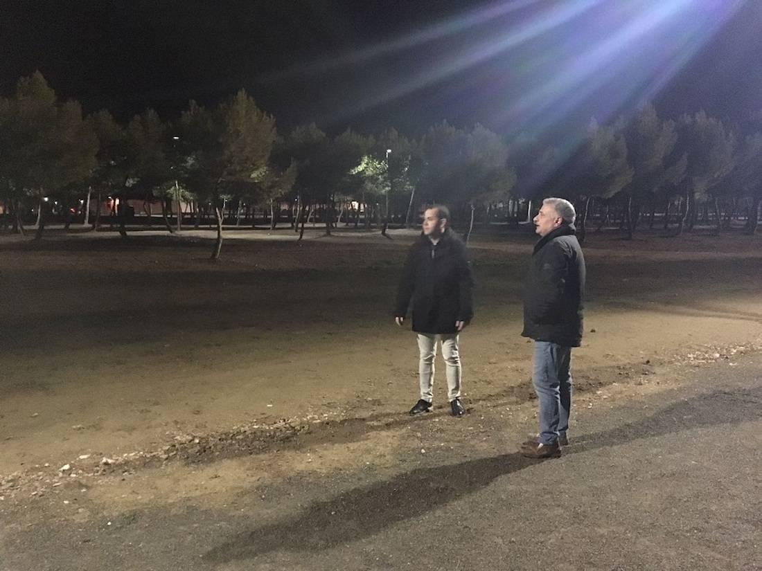 iluminacion parque la serna herencia - Nueva iluminación en el Parque de La Serna de Herencia