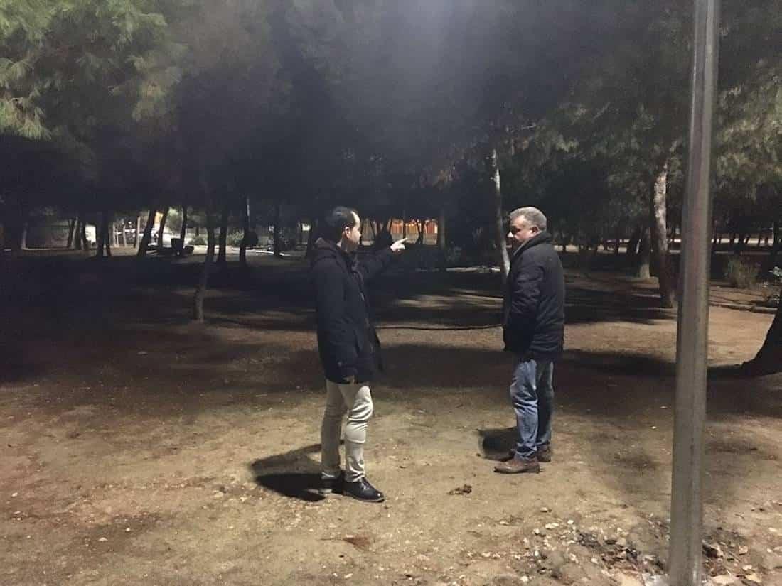 iluminacion parque la serna - Nueva iluminación en el Parque de La Serna de Herencia