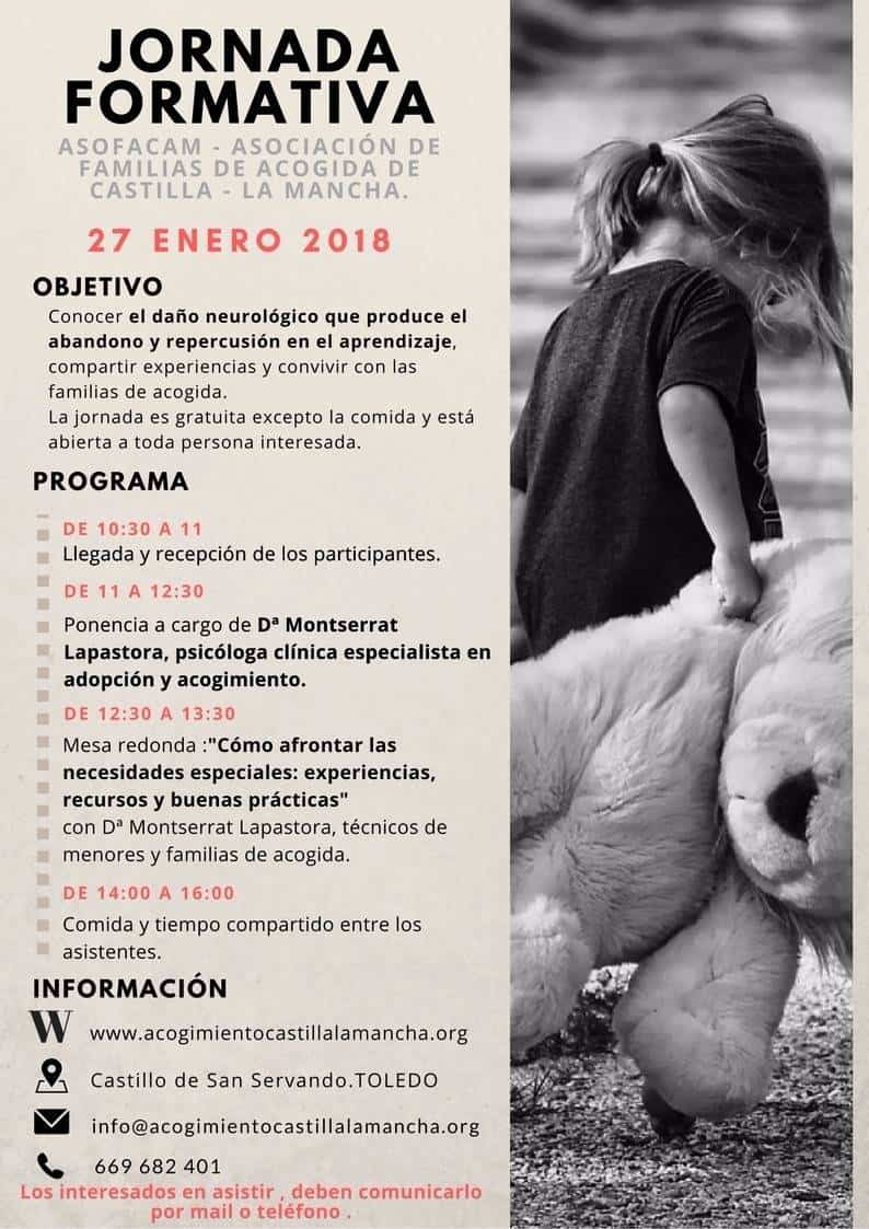 jornada formativa de FAMILIAS DE ACOGIDA DE CASTILLA LA MANCHA - Jornada formativa para familias de acogida en Castilla-La Mancha