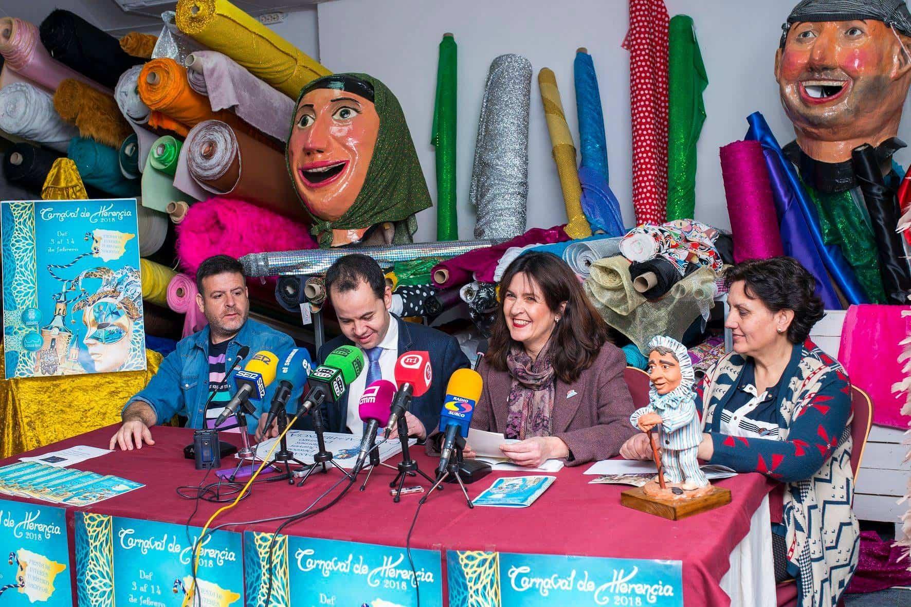 presentacion pregonero carnaval herencia 2 - El cantante Manu Tenorio pregonero de nuestro Carnaval