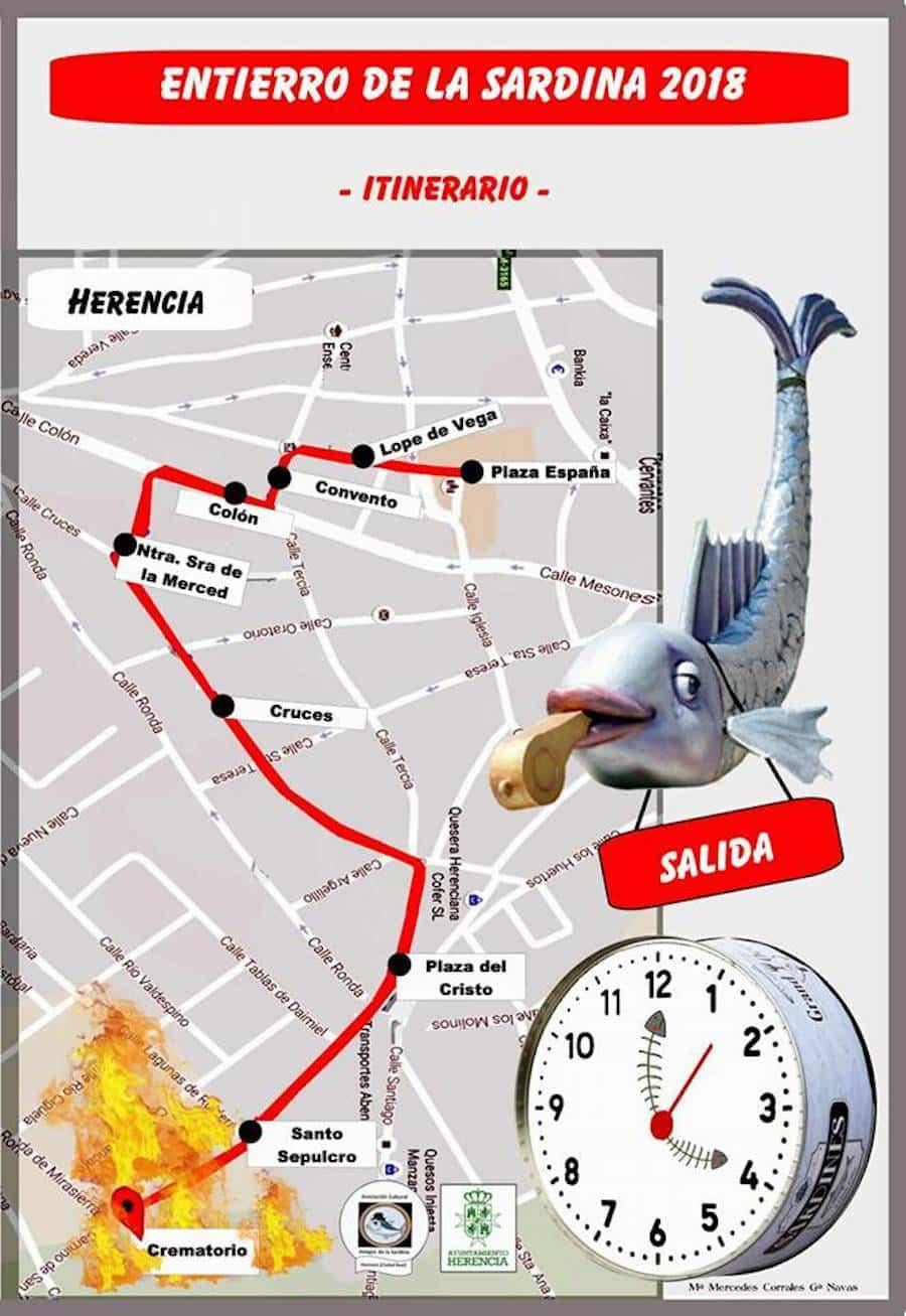 recorrido entierro sardina 2018 herencia - Cartel del Entierro de la Sardina 2018 del Carnaval de Herencia