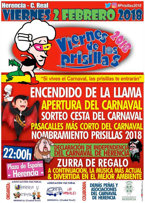 virnes prisillas 2018 1068x1498 - Viernes de Prisillas prepara la declaración de independencia del Carnaval
