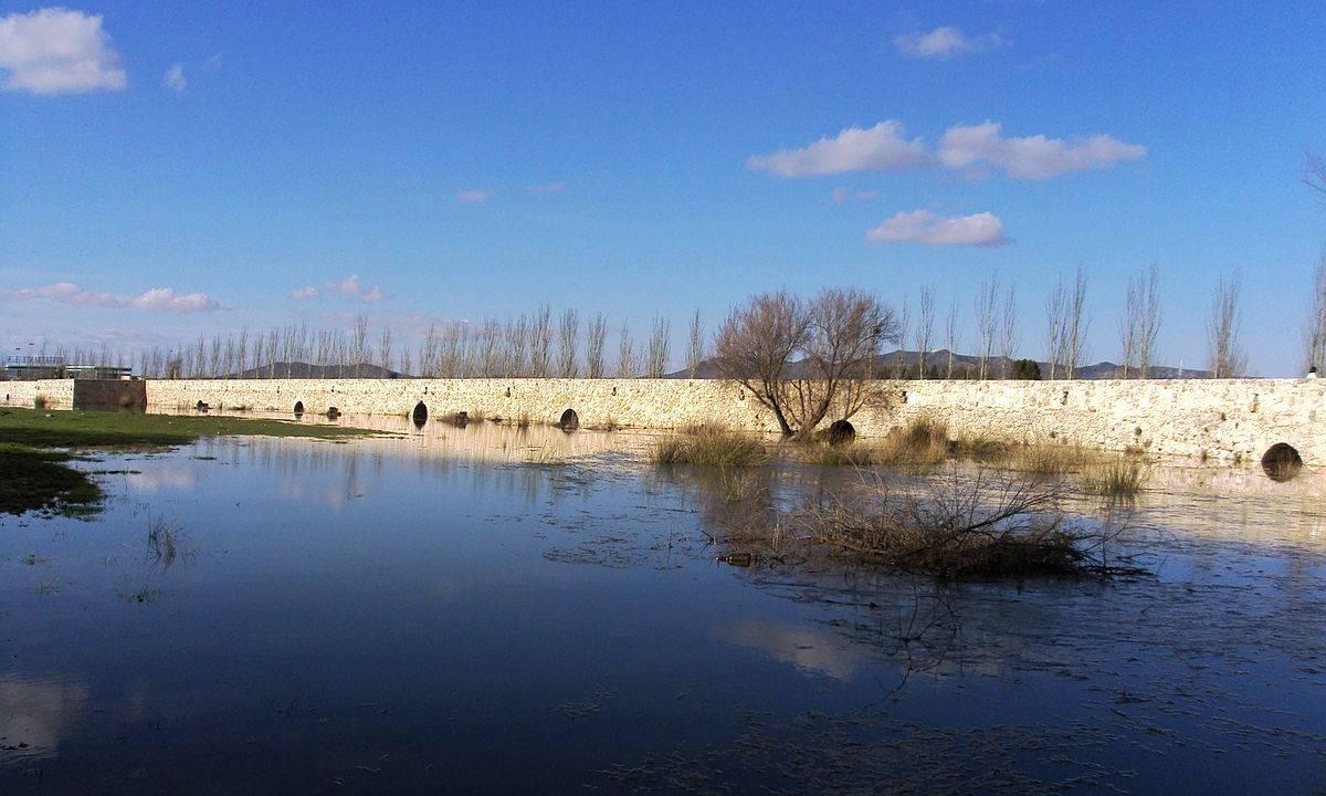 1200px Rio Ciguela. Villarta de San Juan. - El agua vuelve al Cigüela a su paso por Herencia