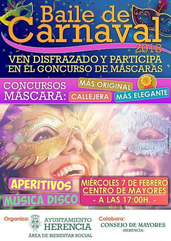 Baile de carnaval centro de mayores 2018 - El centro de mayores contará con su propio baile de carnaval