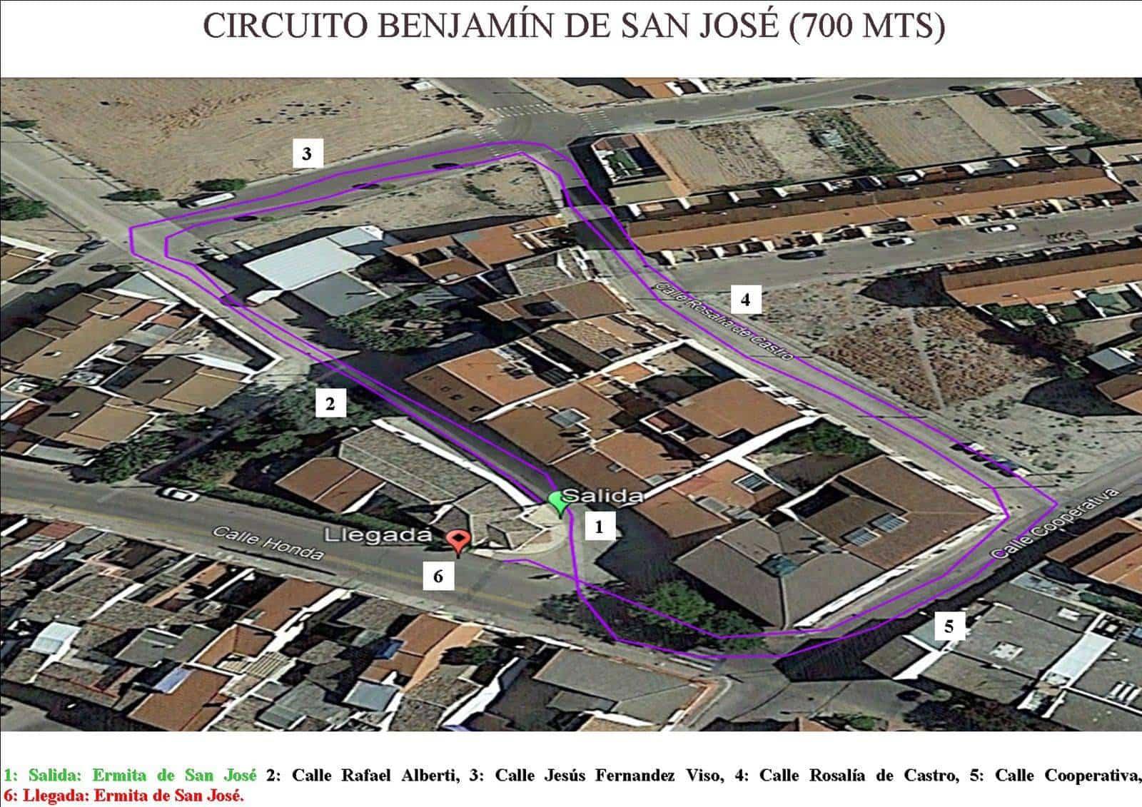"""Circuito Benjamin marcha benefica herencia - I Marcha Benéfica """"Deja tu Huella"""" de San José en Herencia"""