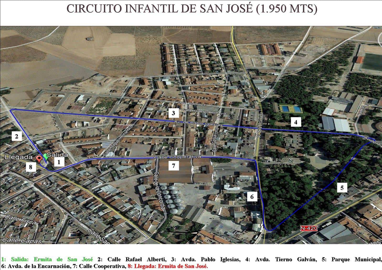 "Circuito Infantil marcha benefica herencia - I Marcha Benéfica ""Deja tu Huella"" de San José en Herencia"