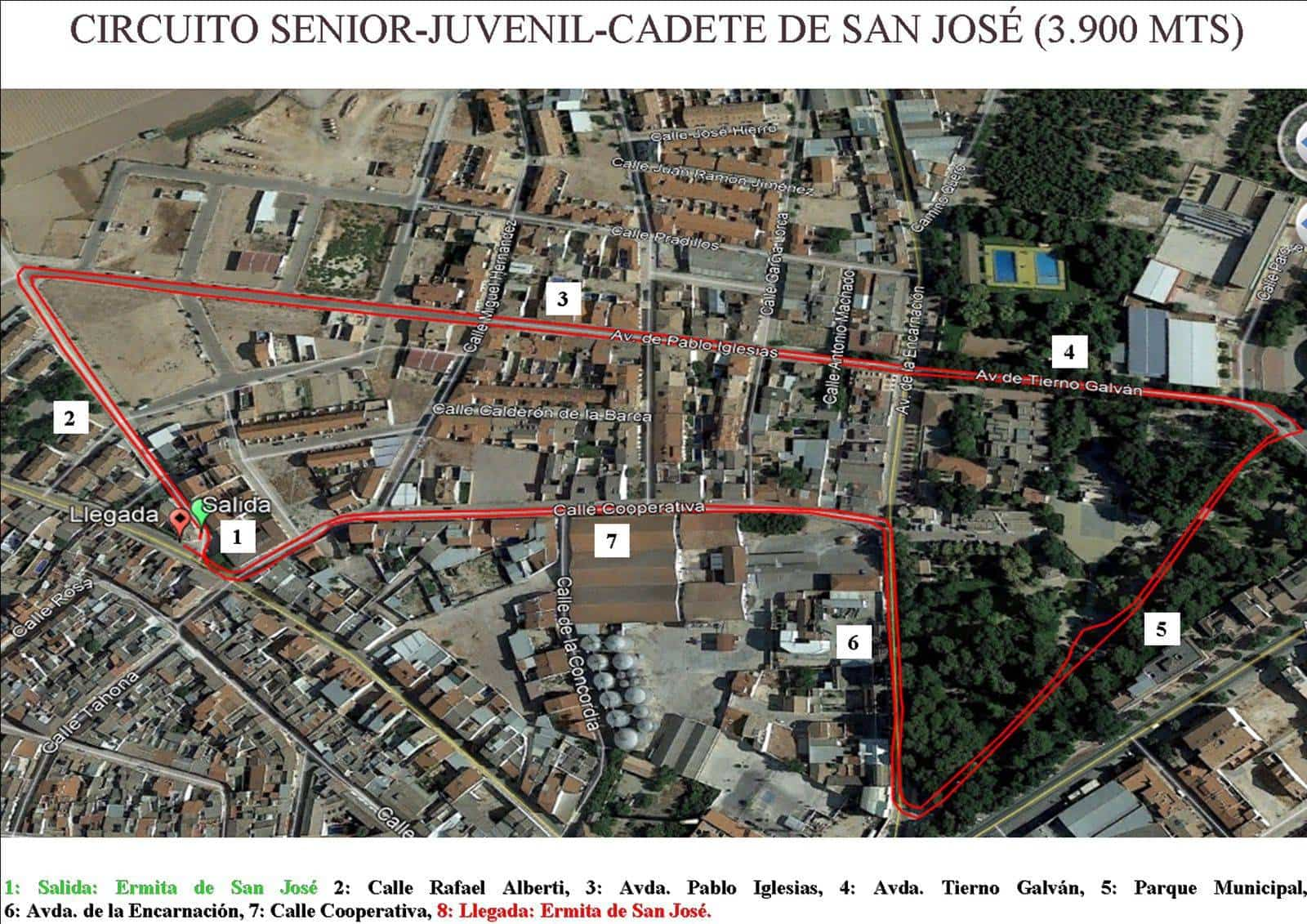 "Circuito Senior Juvenil Cadete marcha benefica herencia - I Marcha Benéfica ""Deja tu Huella"" de San José en Herencia"