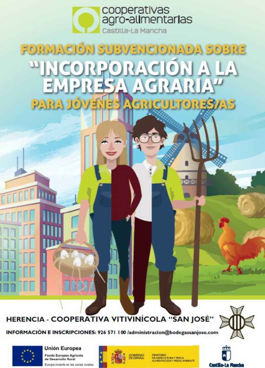 Curso Cooperativa 1068x1479 - La Incorporación de Jóvenes a la Empresa Agraria como formación en la Cooperativa Vitivinícola San José