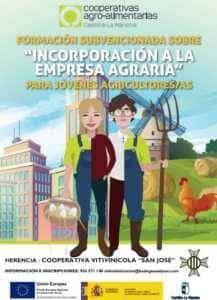 Curso Cooperativa 217x300 - La Incorporación de Jóvenes a la Empresa Agraria como formación en la Cooperativa Vitivinícola San José