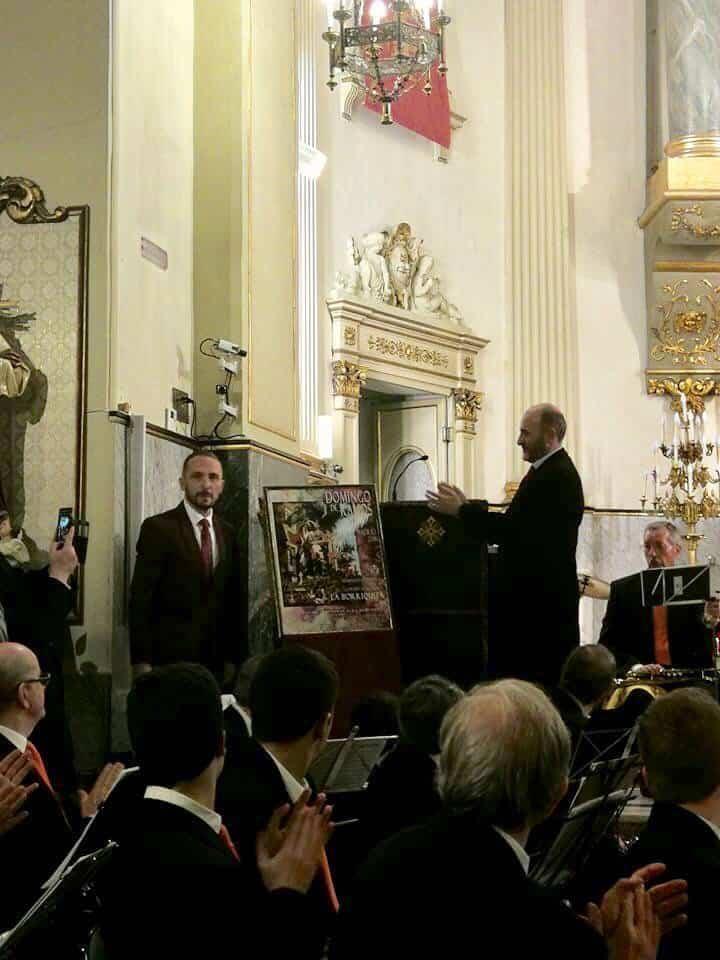 Rafael Garrigos presentando el cartel del Domingo de Ramos de Madrid - Rafael Garrigós realiza el cartel de La Borriquita de Madrid