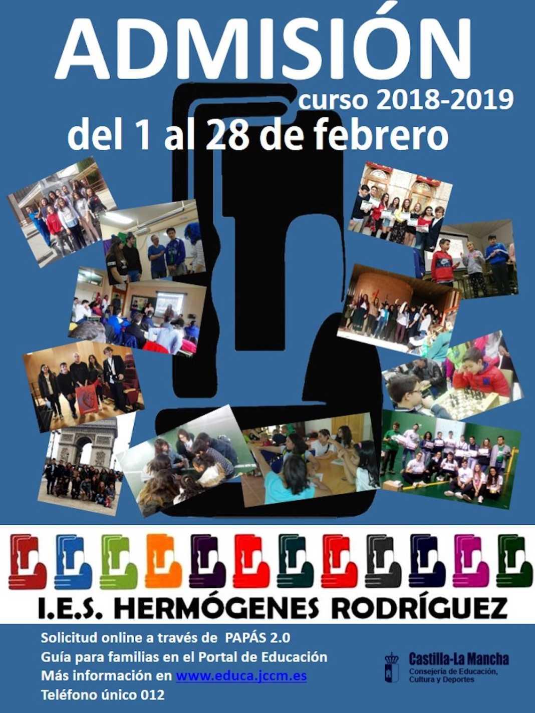admision alumnos hermogenes rodriguez 2018 2019 1068x1424 - IES Hermógenes Rodríguez abre la admisión de alumnos para 2018-2019