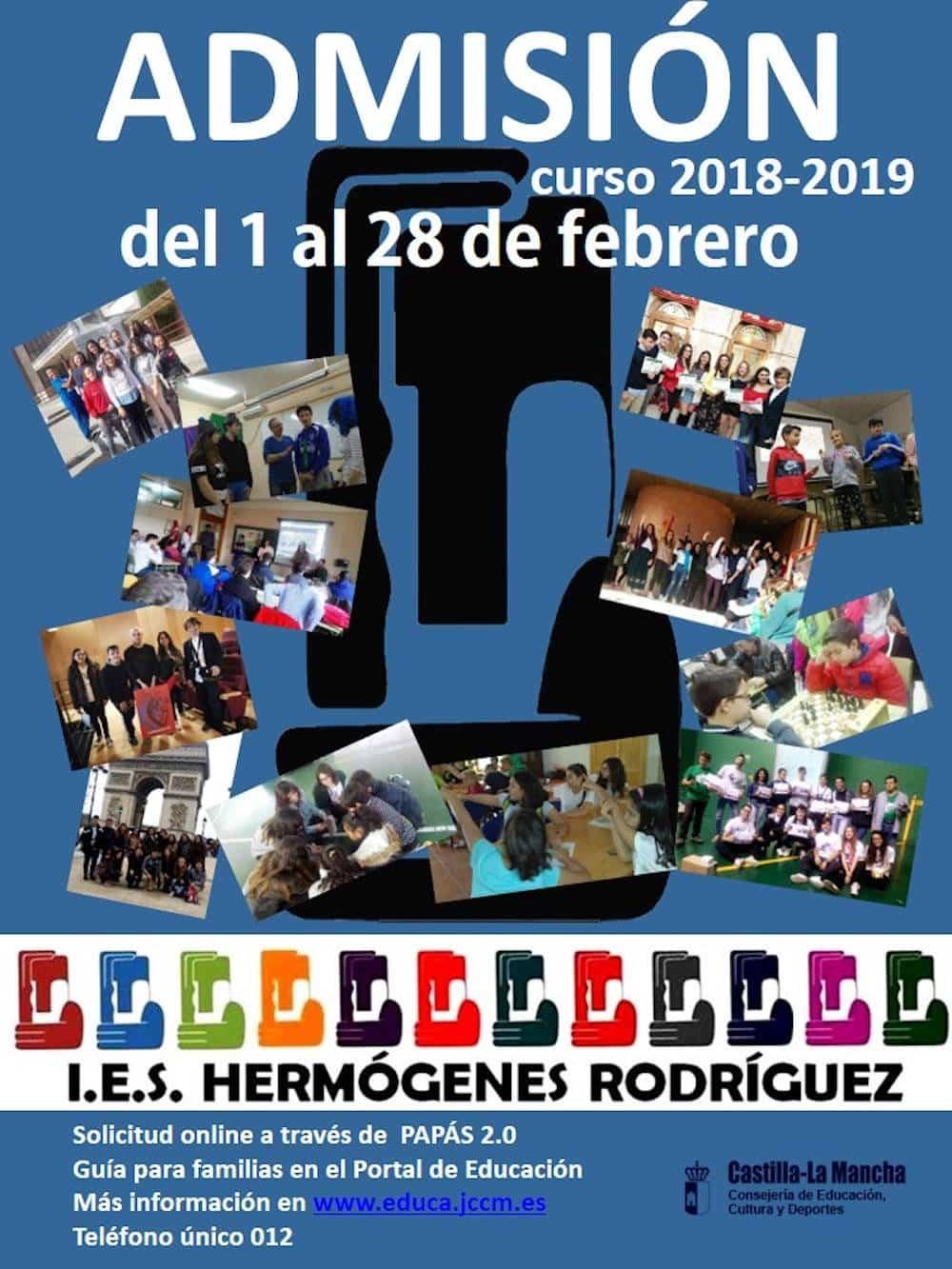 admision alumnos hermogenes rodriguez 2018 2019 - IES Hermógenes Rodríguez abre la admisión de alumnos para 2018-2019