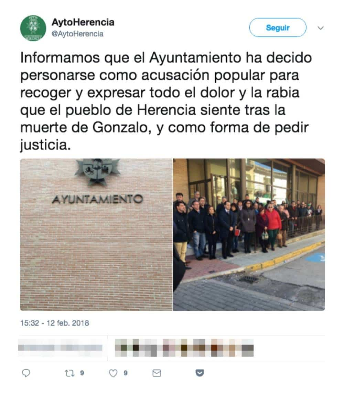 ayuntamiento herencia acusacion popular joven - El Ayuntamiento se personará como acusación popular por los sucesos de Carnaval