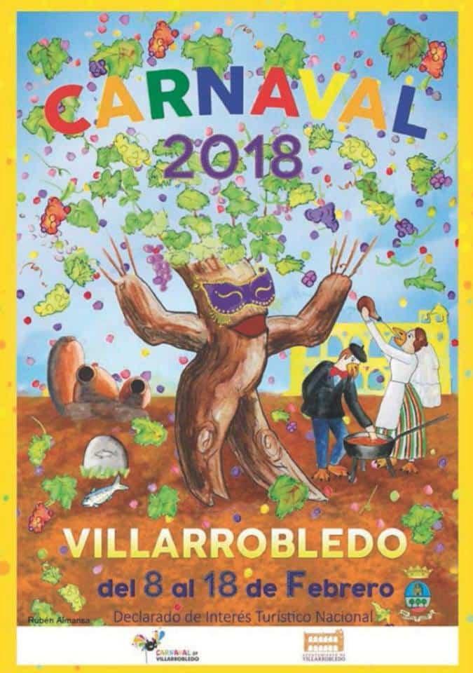 cartel carnaval 2018 villarrobledo - Axonsou primeros en Comparsas Regionales en el Carnaval de Villarrobledo