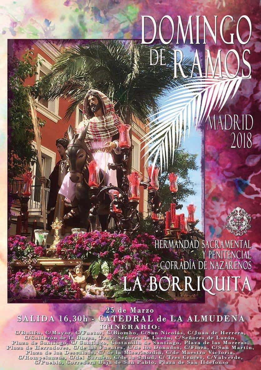 cartel del domingo de ramos de madrid 2018 obra de rafael garrigos - Rafael Garrigós realiza el cartel de La Borriquita de Madrid