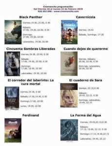 Programación Cinemancha del viernes 16 al jueves 22 de febrero 1