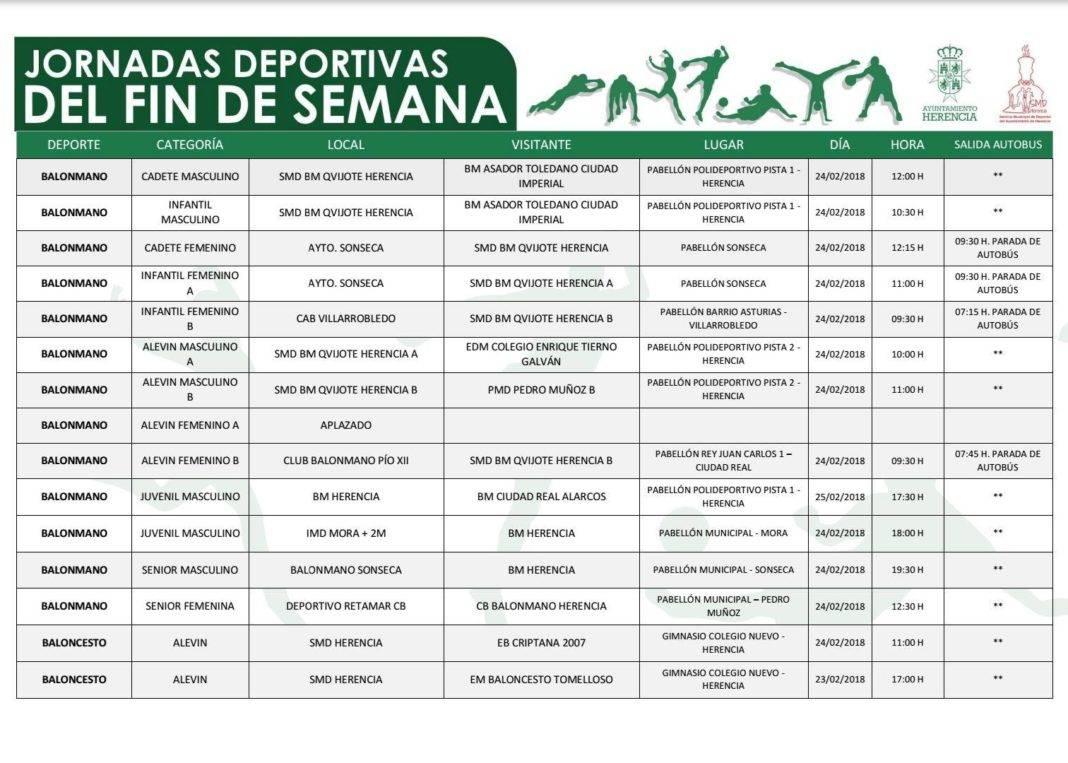 deporte finde herencia 24 25 febrero 1 1068x763 - Programación deportiva para el fin de semana del 24 y 25 febrero