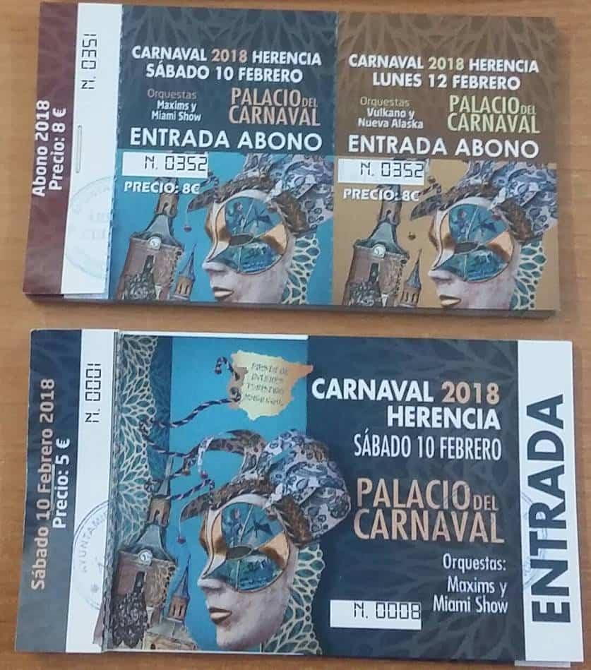 entradas palacio carnaval herencia 2018 - Devolución del importe de las entradas y abonos del lunes de Carnaval