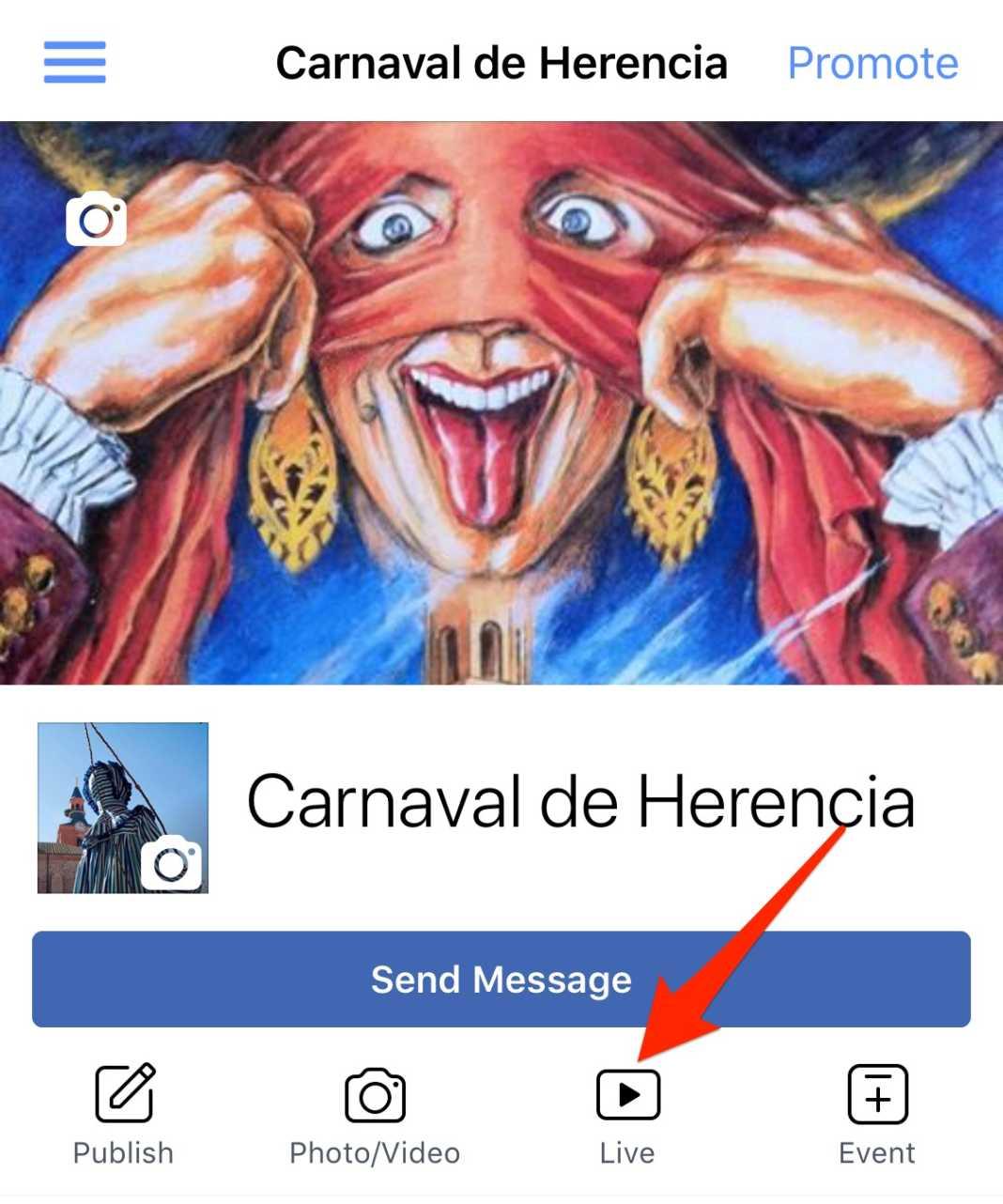 facebook live carnaval de herencia 1068x1282 - Inauguración del Carnaval de Herencia 2018 en directo
