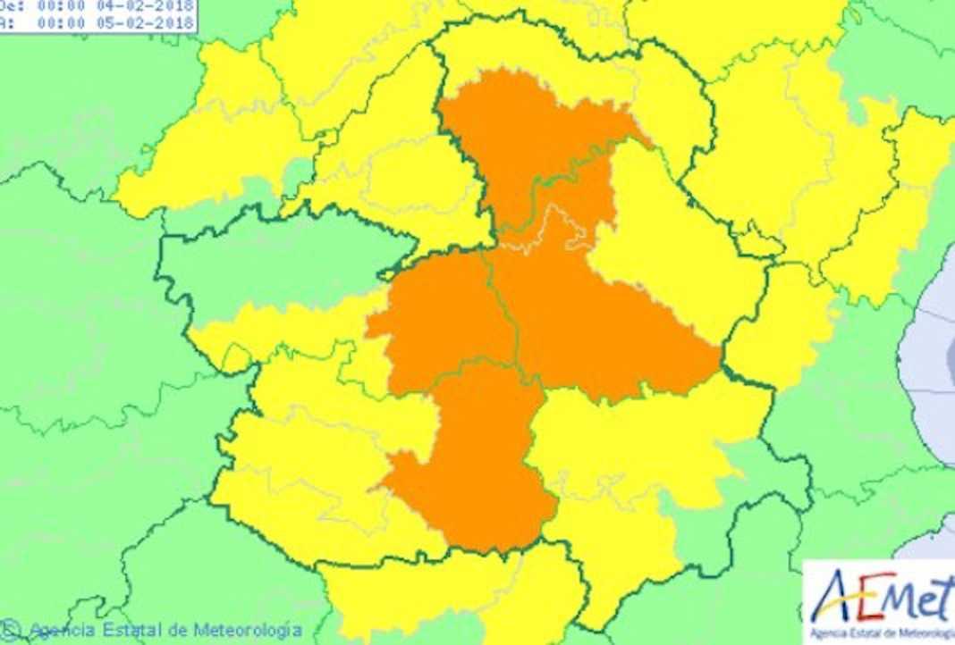 Aviso amarillo por temperaturas mínimas en Herencia 10