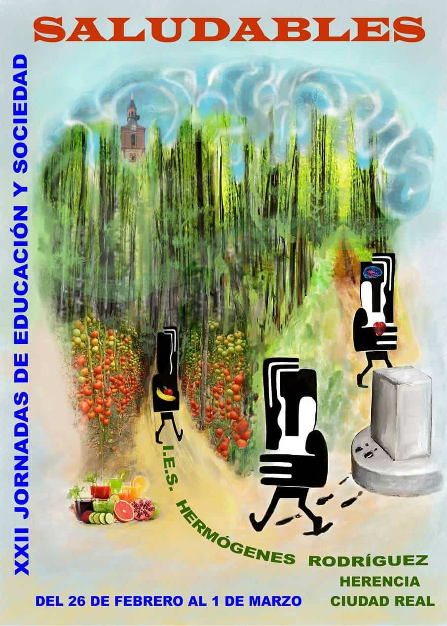 jornadas educacion saludable herencia cartel - Las XXII Jornadas del IES Hermógenes Rodríguez dedicadas a hábitos saludables