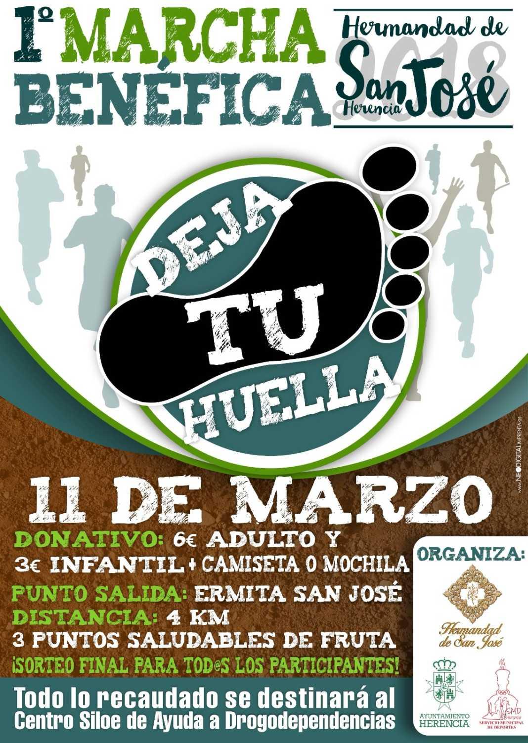 """marcha benefica san jose herencia 1068x1503 - I Marcha Benéfica """"Deja tu Huella"""" de San José en Herencia"""
