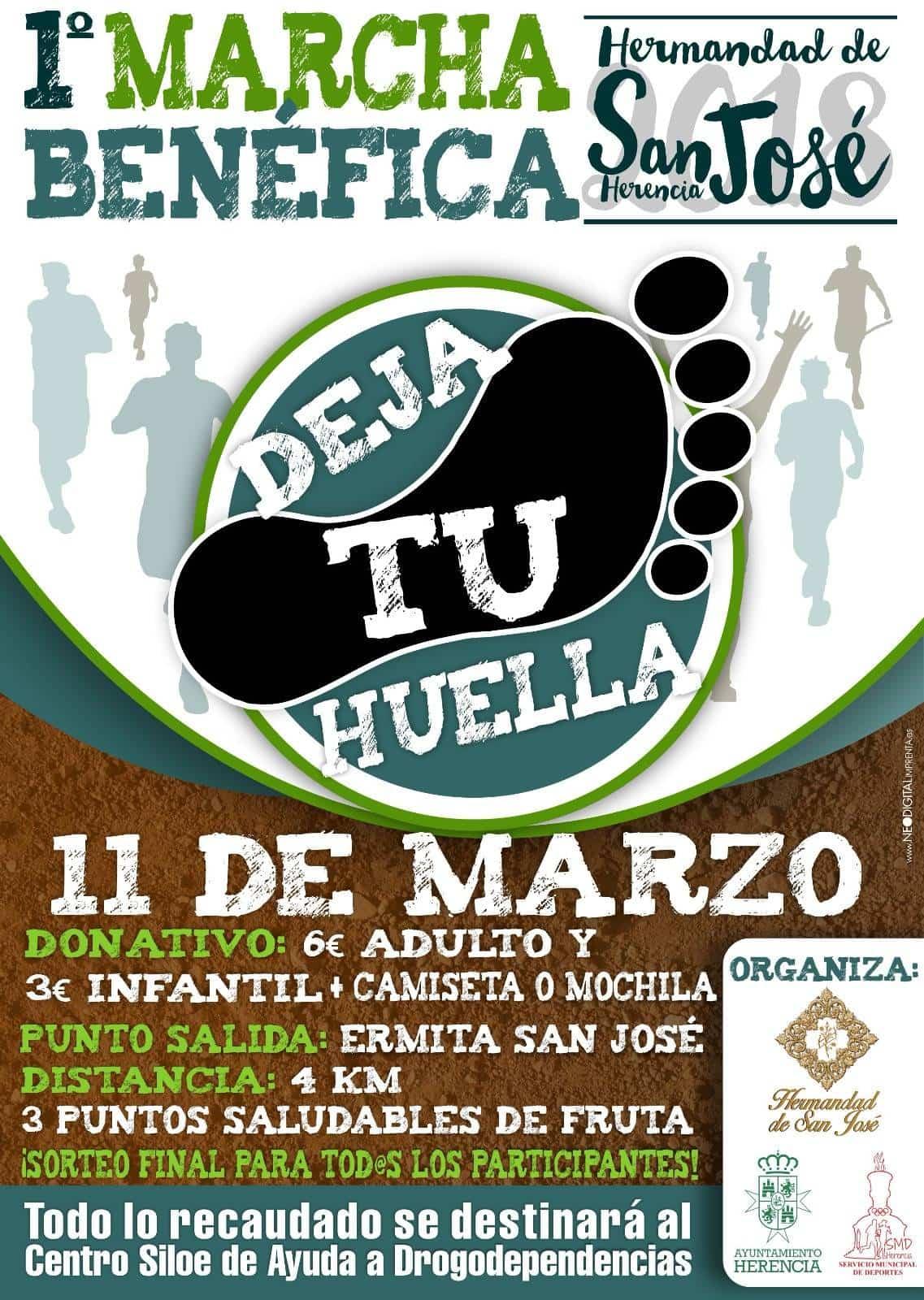 marcha benefica san jose herencia - Dos eventos deportivos marcan la agenda del fin de semana en el municipio