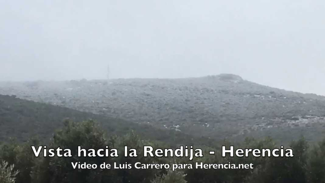 Nieve en los parajes de la Rendija y el Navajo en Herencia 12