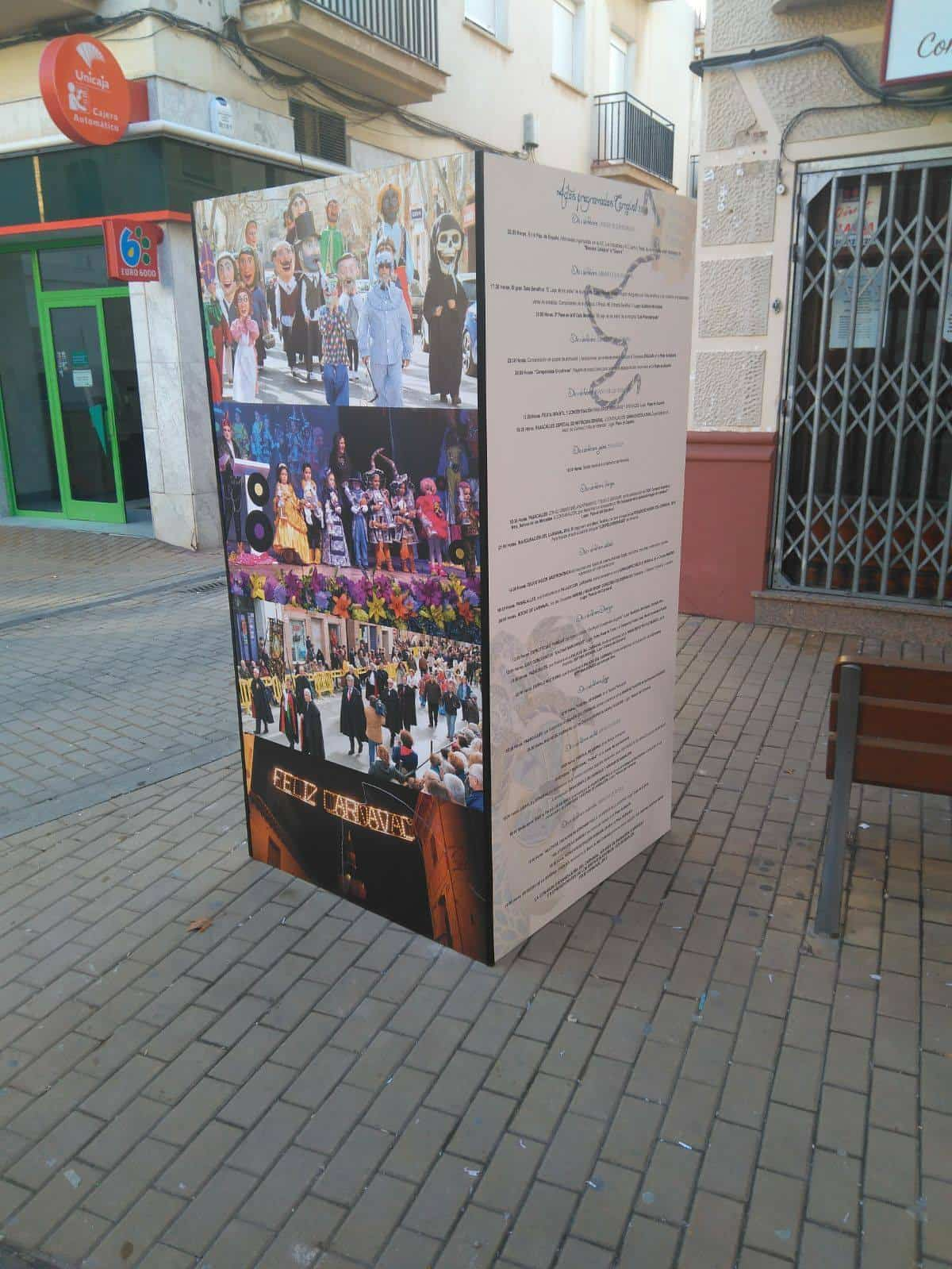 paneles informativos carnaval 2018 calle - Paneles informativos del Carnaval 2018 a pie de calle