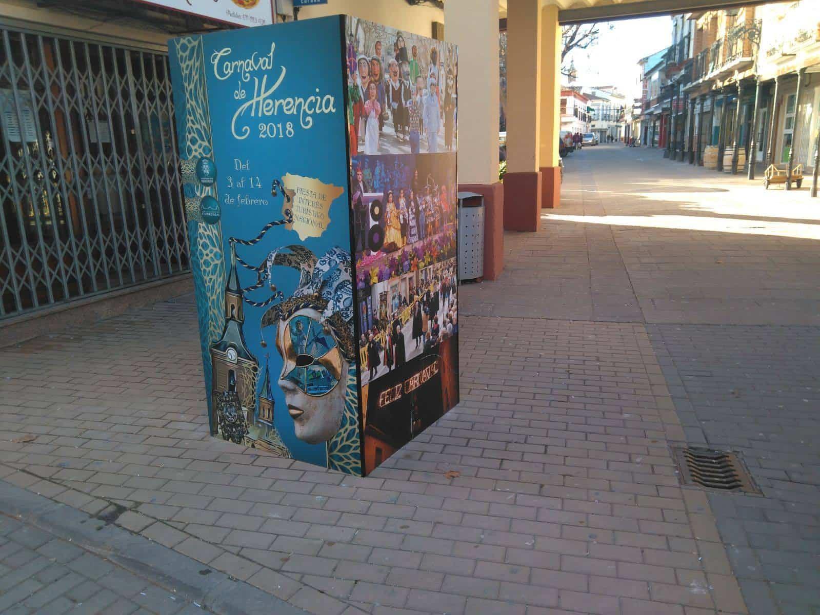 paneles informativos herencia 2018 - Paneles informativos del Carnaval 2018 a pie de calle