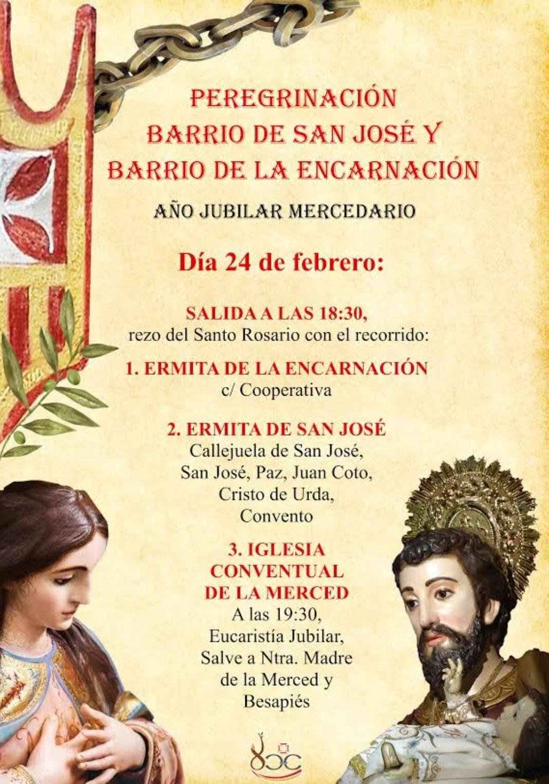 peregrinacion de barrio mercedaria 1068x1524 - Peregrinación jubilar mercedaria de los barrios de san José y la Encarnación