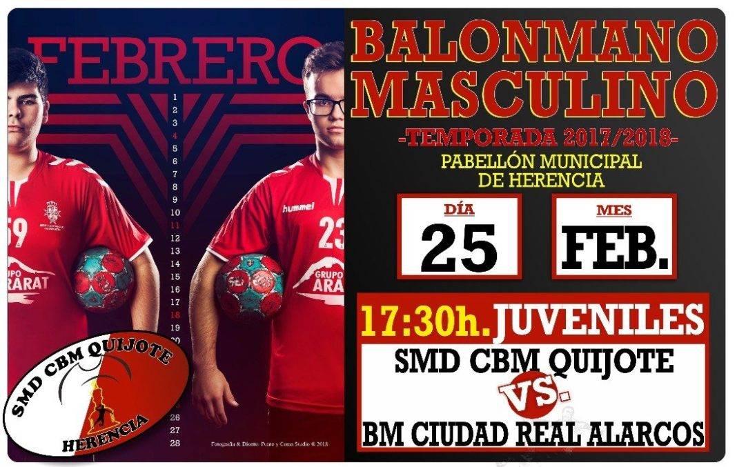 quijote herencia   bm ciudad real alarcos 1068x677 - Balonmano en Herencia: SMD CBM Quijote vs BM Ciudad Real Alarcos, 25 de febrero