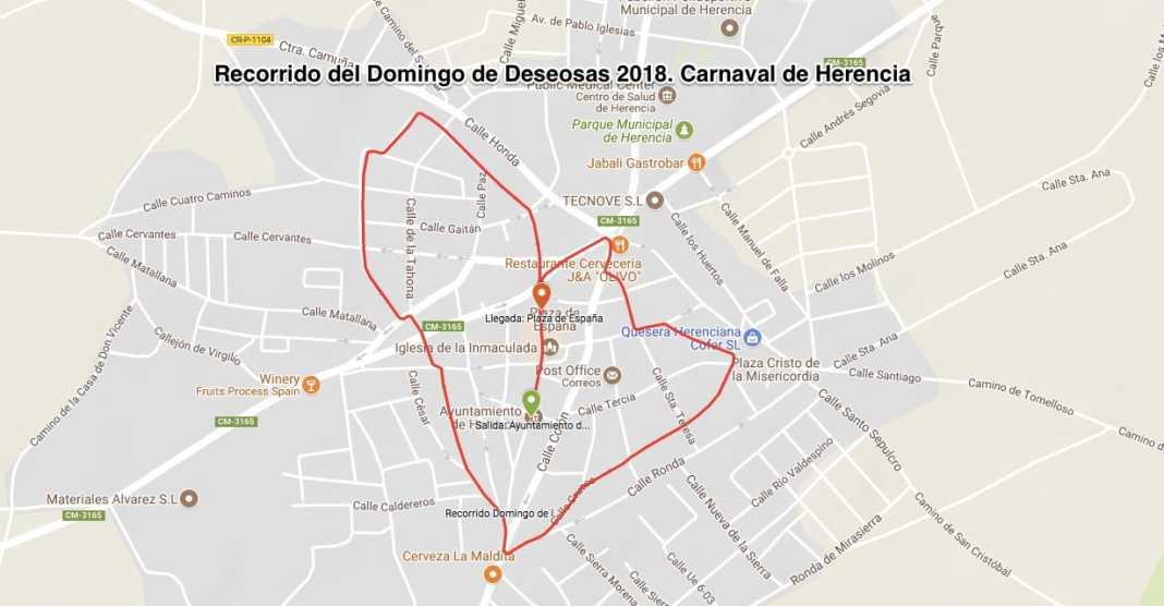 Recorrido del pasacalles del Domingo de las Deseosas de Carnaval 1