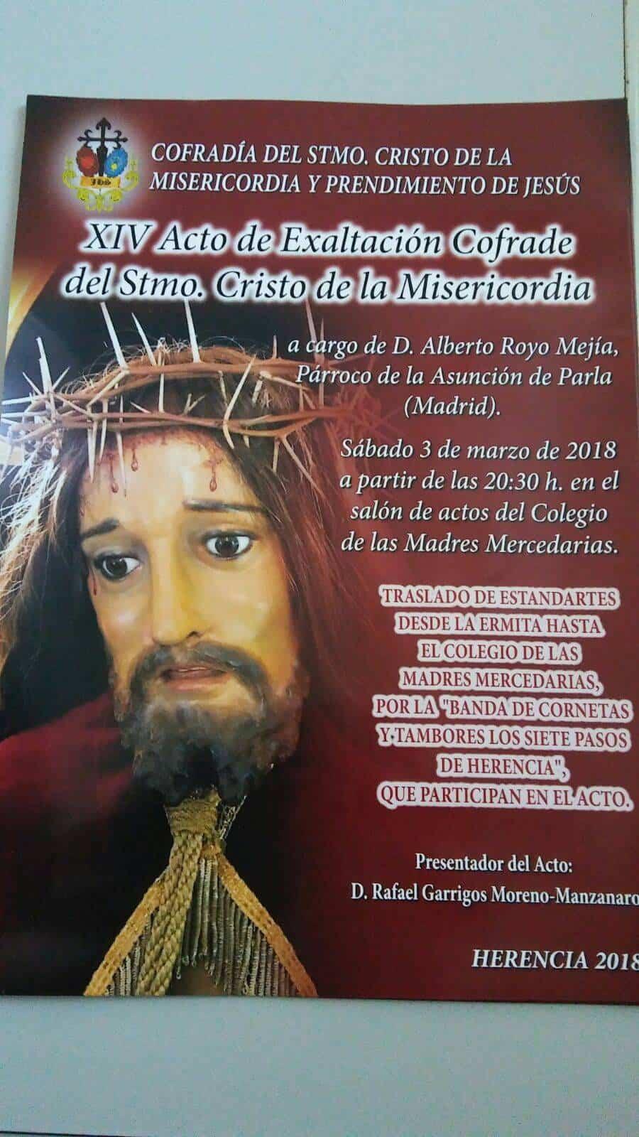 xiv acto exaltacion crofrade cristo 2018 - XIV Acto de Exaltación Cofrade del Stmo. Cristo de la Misericordía