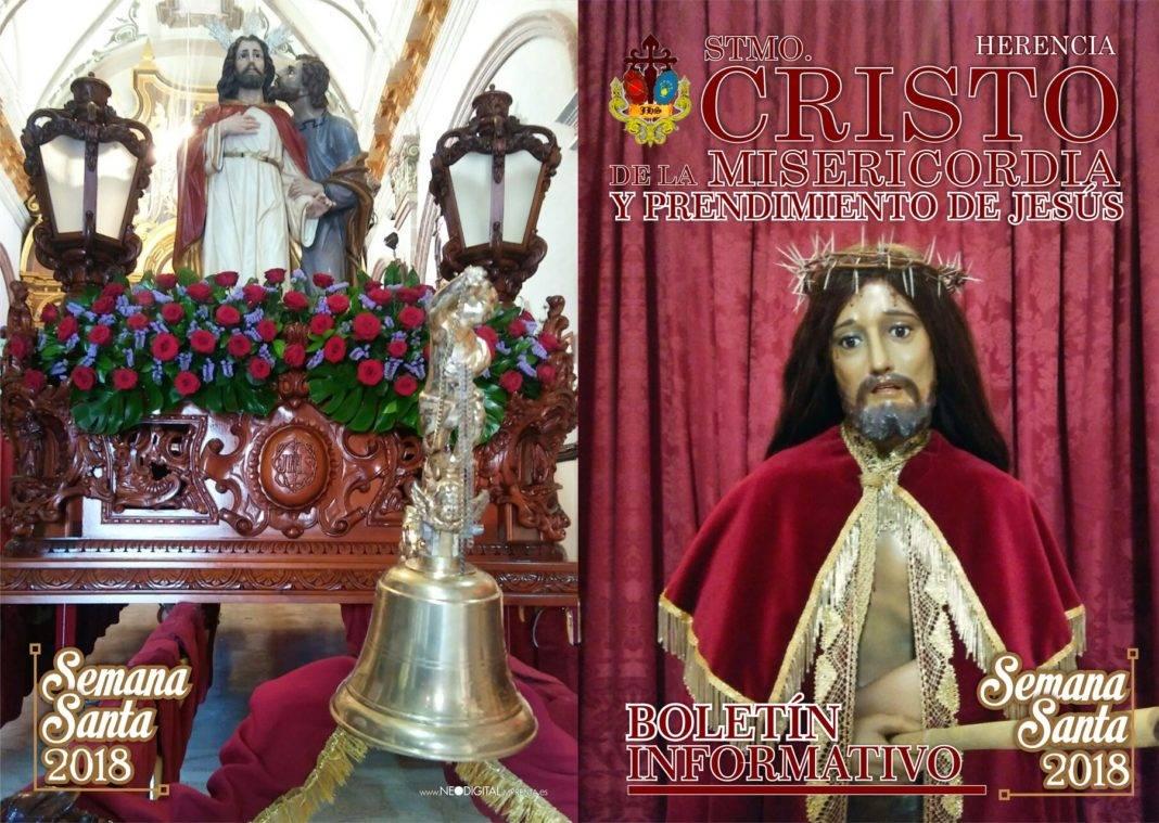 """2018 MISERICORDIA diptico semana santa 01 1068x759 - Cambios en recorrido y horarios de Cofradía de """"El Cristo"""""""