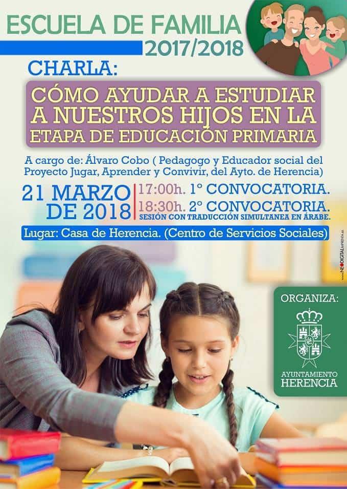 2956 2018 AYTO servicios sociales charla - Charla sobre como ayudar a estudiar en la etapa de primaria