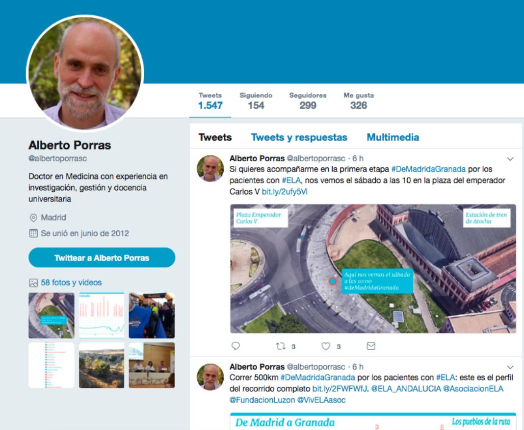 Alberto Porras 1068x877 - El maratón solidario por los pacientes con ELA pasará por Herencia
