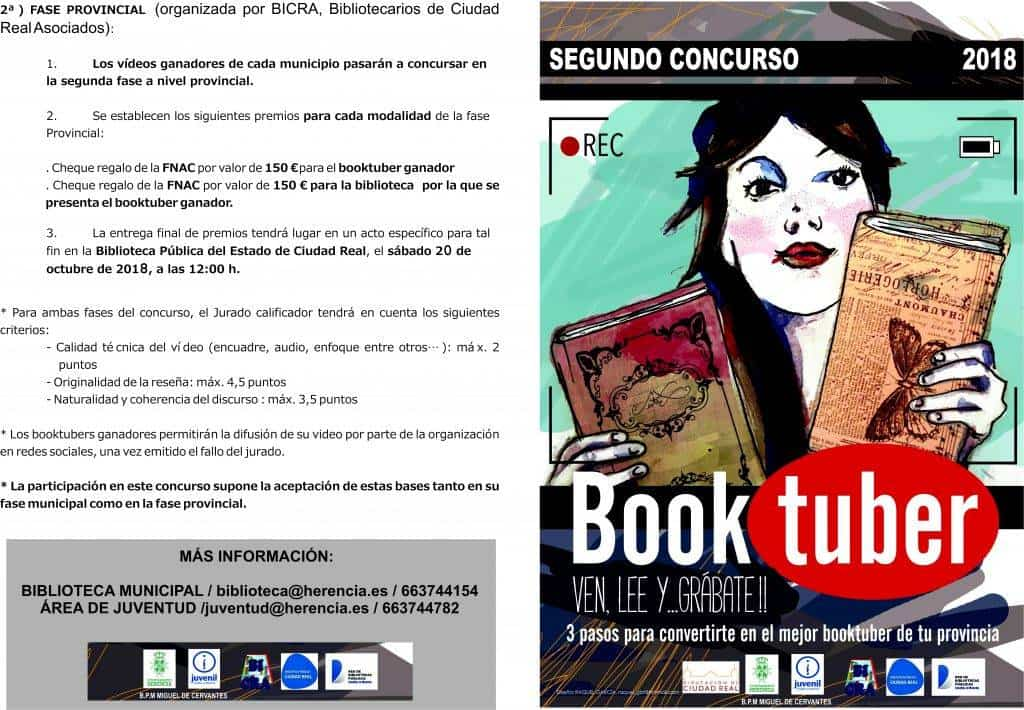 "Bases II Concurso Booktuber exterior 1024x710 - II Concurso de Booktuber ""Bibliotuber"""