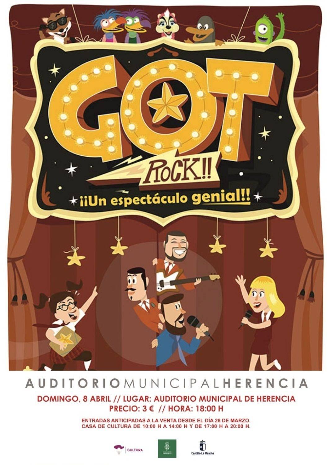 """CARTEL GOT ROCK 1068x1502 - A la venta las entradas para el espectáculo familiar """"Got Rock!"""""""