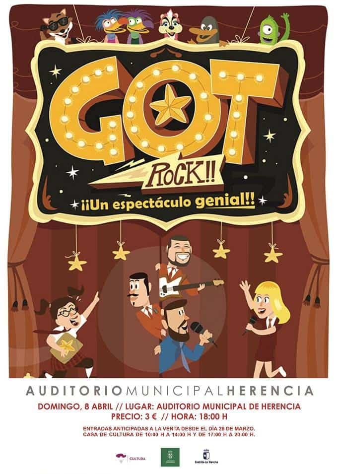 """CARTEL GOT ROCK - A la venta las entradas para el espectáculo familiar """"Got Rock!"""""""