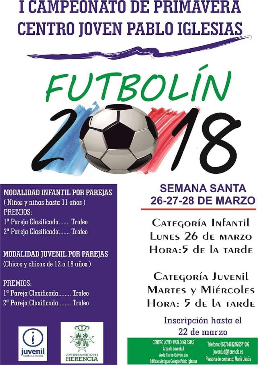 Campeonato de futbolin herencia - Campeonato de Futbolín en Semana Santa en Herencia