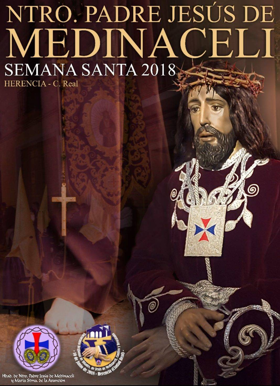Cartel estacion de penitencia jesus de medinaceli 2018 herencia 1068x1472 - Cartel y recorrido de Jesús de Medinaceli en su estación de penitencia el Jueves Santo