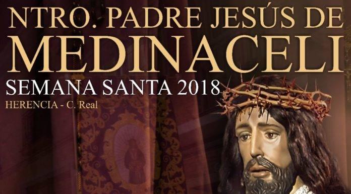 Cartel y recorrido de Jesús de Medinaceli en su estación de penitencia el Jueves Santo