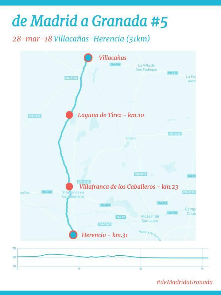 De Madrid a Granada 5 - El maratón solidario por los pacientes con ELA pasará por Herencia