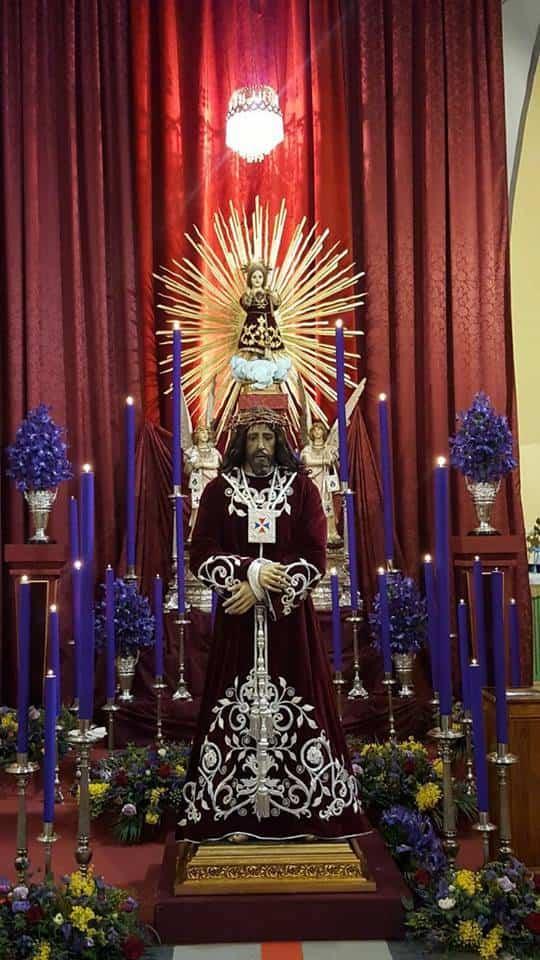 Jesus de Medinaceli Herencia - Cartel y recorrido de Jesús de Medinaceli en su estación de penitencia el Jueves Santo